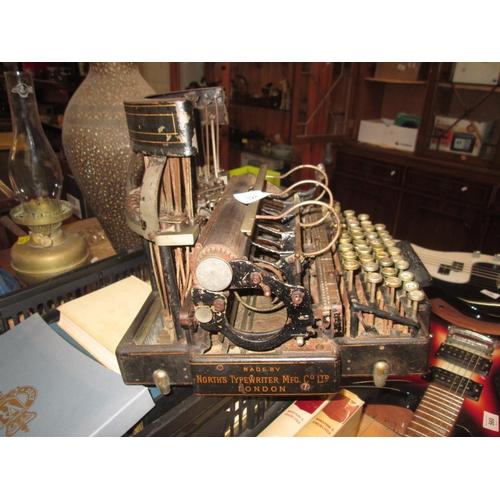 328 - Late 19th century rare typewriter by North's Typewriter Manufacturing Company (Ltd) Hatton Garden, L...