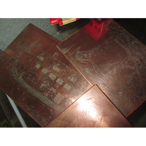 331 - 19th century copper etching plates...