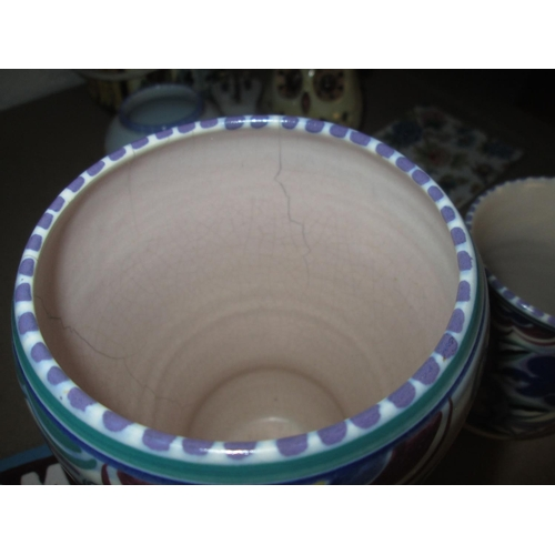 357 - 2 x Poole Pottery Bluebird vases and other decorative china...