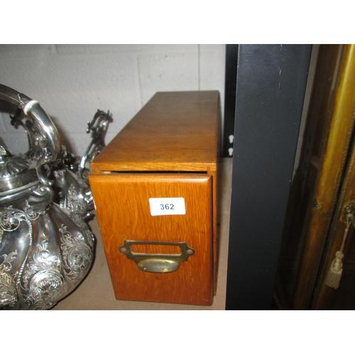 362 - Vintage wooden filing drawer...