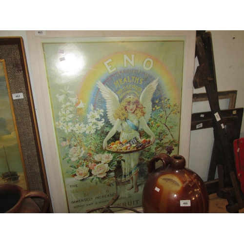 463 - Vintage Eno's advertising poster in modern frame...