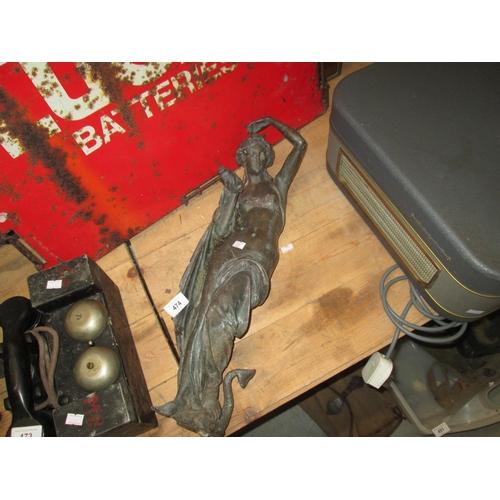 474 - 19th century bronze figure of Neo Classical Lady...
