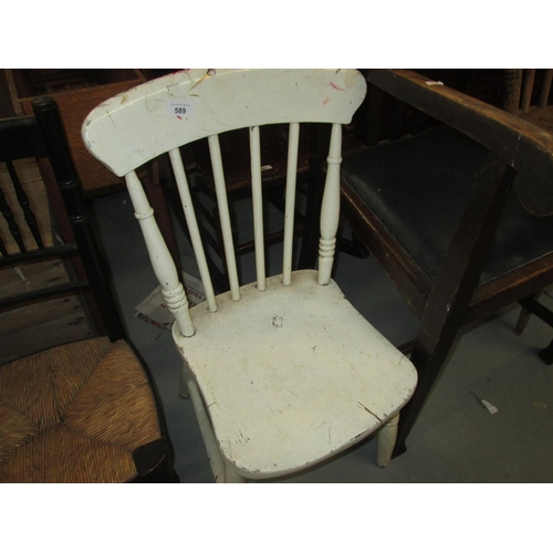 589 - Early 20th century painted childs chair...