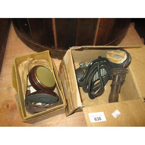 630 - Assorted vintage microphones...