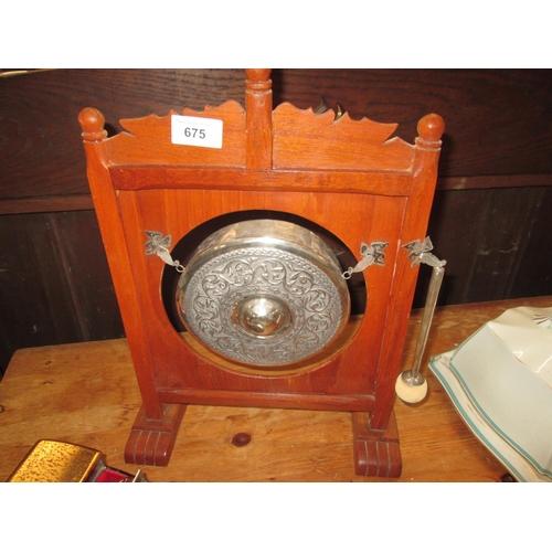 675 - Burmese silver metal gong...