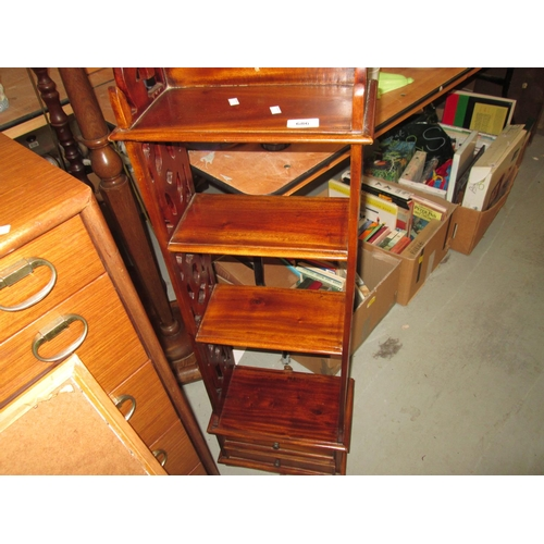 686 - Bookcase and 2 x standard lamps...