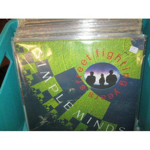 719 - Box of vinyl record albums : various 1970's & 1980's commercial pop...