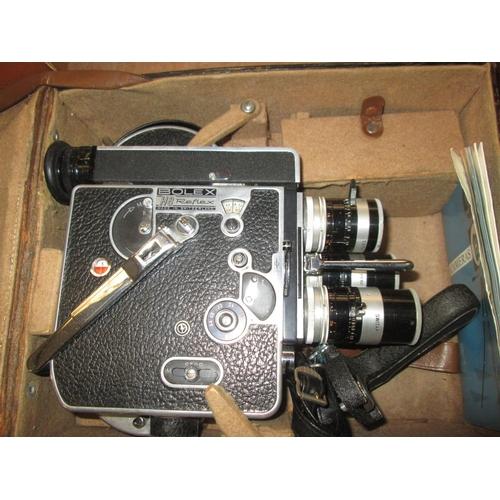 730 - Bolex Reflex  H8 camera in case...