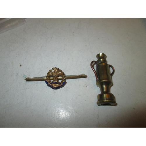 171 - Middlesex Regiment sweetheart brooch & trench art bullet...