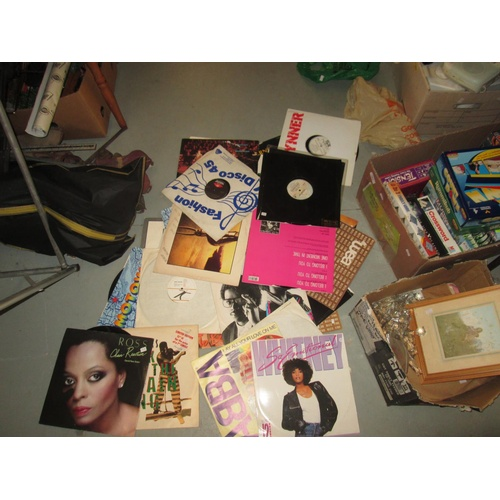 705 - Collection of 20  vinyl record albums : 1960's - 1980's commercial pop 12