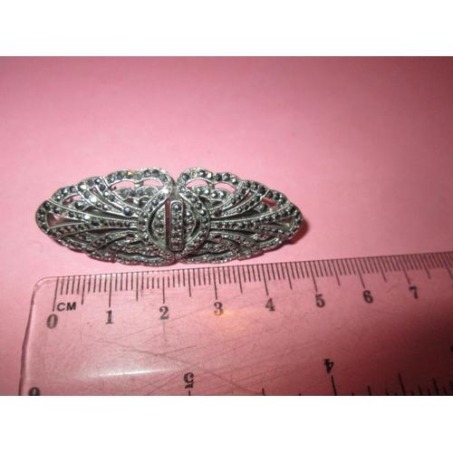 19 - Vintage marcasite clip brooch...