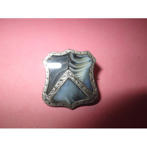 36 - Early 20th century blue hardstone set in silver...