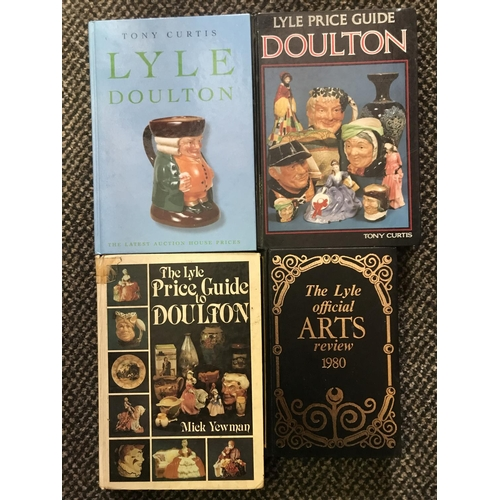 15 - 4 X LYLE PRICE GUIDE BOOKS, THREE ON ROYAL DOULTON AND ONE ON THE ARTS...