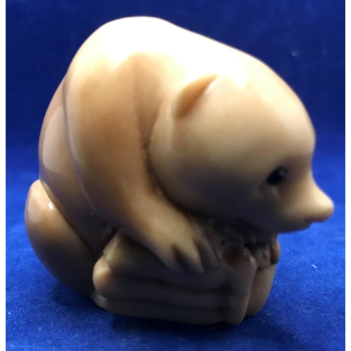 50 - SIGNED(JUST ABOVE TAIL) CHINESE NETSUKE ANIMAL FIGURE...