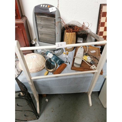 20 - old white pine clothes rack