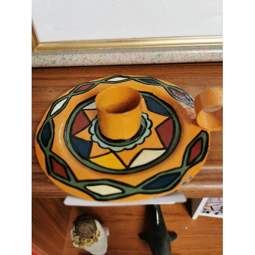 56 - painted candle holder
