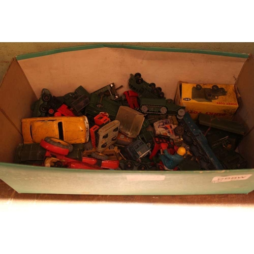 19 - A SHOE BOX OF COLLECTOR'S DIE-CAST VEHICLES to include military examples <br>...