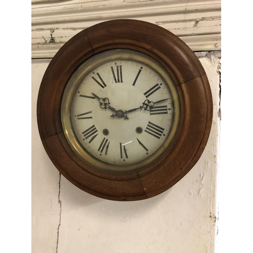 2 - Victorian circular wall clock...