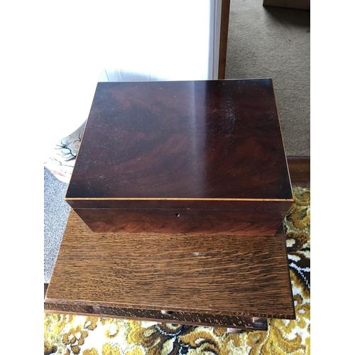 43 - Victorian mahogany sewing box...