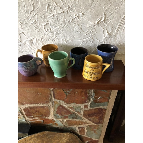 53 - Collection of Brannam commerative mugs...