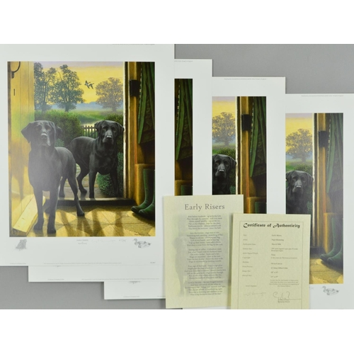 10 - NIGEL HEMMING (BRITISH 1957) 'EARLY RISERS', four limited edition prints 67, 68, 69 and 70/295 featu...