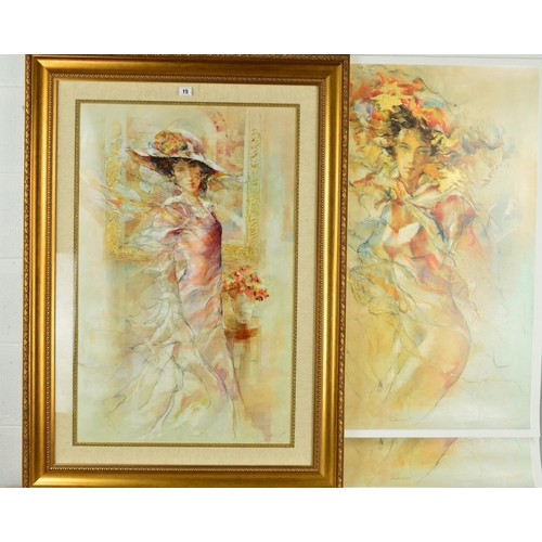 15 - GARY BENFIELD (BRITISH 1965) 'TENDERNESS', two artist proof prints of a woman 156 + 157/175, signed,...