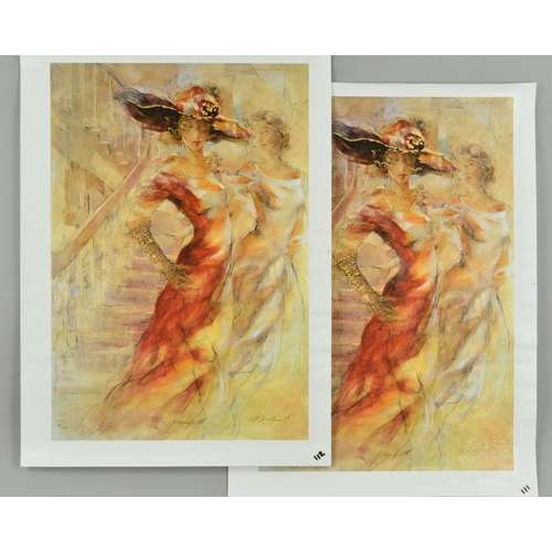 31 - GARY BENFIELD (BRITISH 1965) 'ELEGANCE', two limited edition prints on canvas, 53 and 54/150 of a wo...