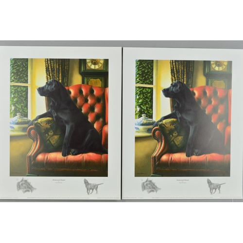 32 - NIGEL HEMMING (BRITISH 1957) 'HOMEWARD BOUND', two limited edition prints 59 and 60/300 of a black L...