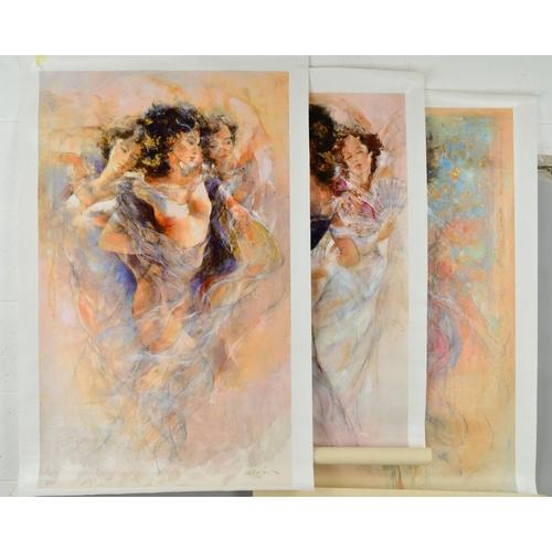 34 - GARY BENFIELD (BRITISH 1965), three limited edition prints on canvas, 'Autumn Evening' 24/100, 'Moon...