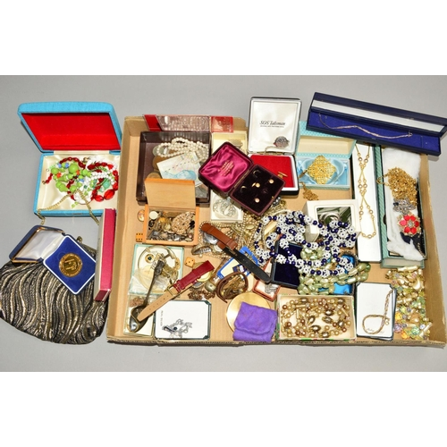 52 - A SELECTION OF JEWELLERY, etc to include costume jewellery, a Pierre Cardin bracelet, a mid 20th Cen...