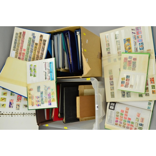 34 - A MINT AND USED ACCUMULATION OF STAMPS, in eighteen albums, stockbooks and loose including Germany, ...
