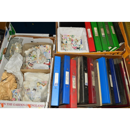 38 - AN ALL WORLD MINT AND USED COLLECTION OF STAMPS, in files and loose contained in three boxes includi...