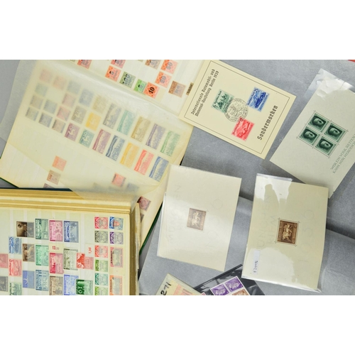 42 - A MAINLY MINT COLLECTION OF GERMAN STAMPS, in two stockbooks and a file with States, Third Reich, et...