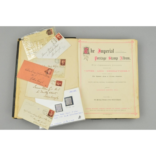 43 - A COLLECTION OF BRITISH EMPIRE STAMPS, in a damaged early Imperial album with Great Britain from 184...
