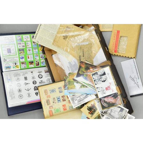 9 - VARIOUS STAMPS, in two albums and loose...