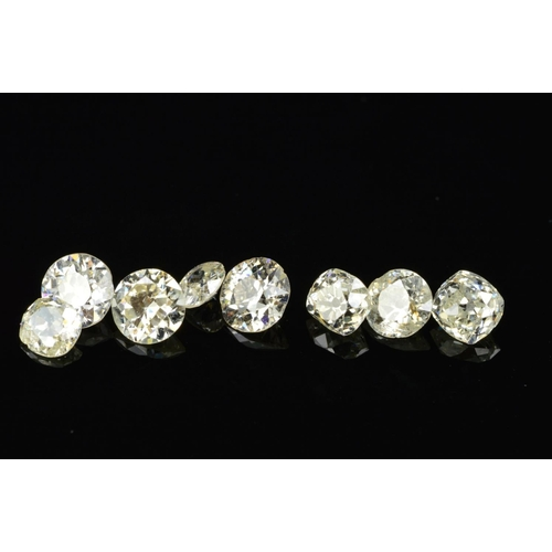 15 - A SELECTION OF OLD EUROPEAN, OLD MINE AND OLD CUSHION CUT DIAMONDS, approximate average sizes from 0...