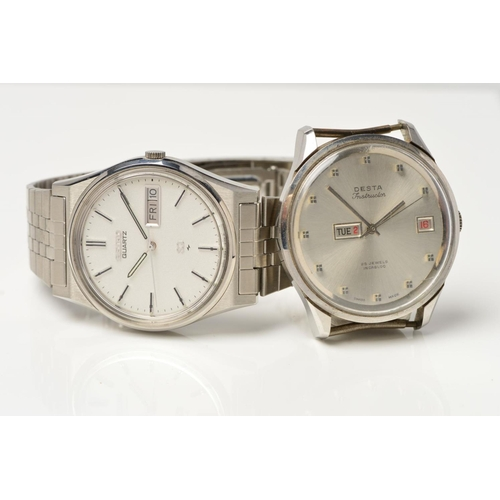26 - TWO GENT'S WATCHES, to include a stainless steel Seiko day date quartz movement fitted to the origin...