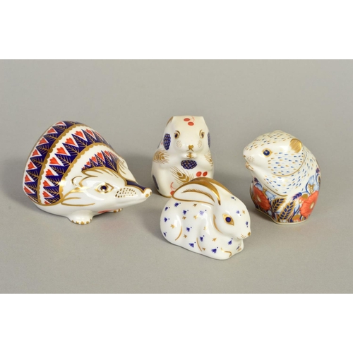 FOUR ROYAL CROWN DERBY PAPERWEIGHTS, 'Poppy Mouse