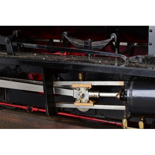 62 - A HANDBUILT 1/8 SCALE 7 1/4 INCH (184MM) GAUGE LIVE STEAM MODEL OF A HUNSLET 0-4-0 SADDLE TANK LOCOM...