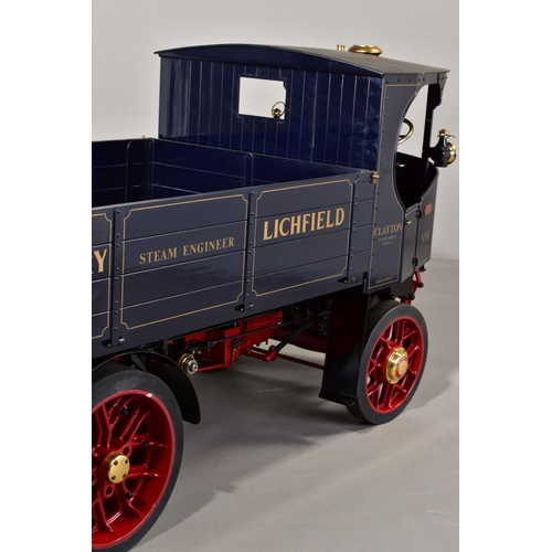 65 - A HANDBUILT 3 INCH SCALE LIVE STEAM MODEL OF A CLAYTON UNDERTYPE STEAM WAGON, 'Ruth', not tested, co...