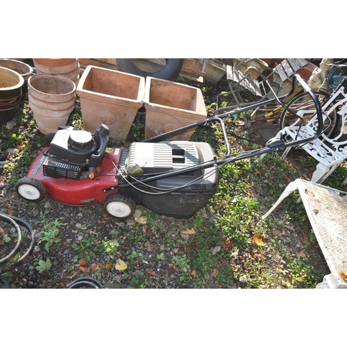 1004 - A MOUNTFIELD SP454 PETROL LAWN MOWER with a 45cm width cut (engine pulls freely but no petrol so not...
