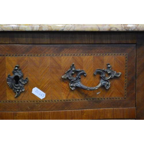 1207 - A TALL REPRODUCTION KINGWOOD, MAHOGANY AND STRUNG LOUIS XV STYLE SECRETAIRE CHEST, red and dusk pink...