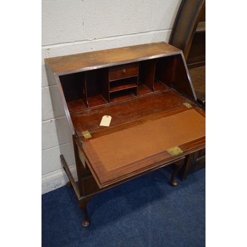 1267 - AN OLD CHARM OAK DUTCH DRESSER, with two drawers, width 112cm x depth 43cm x height 174cm together w...
