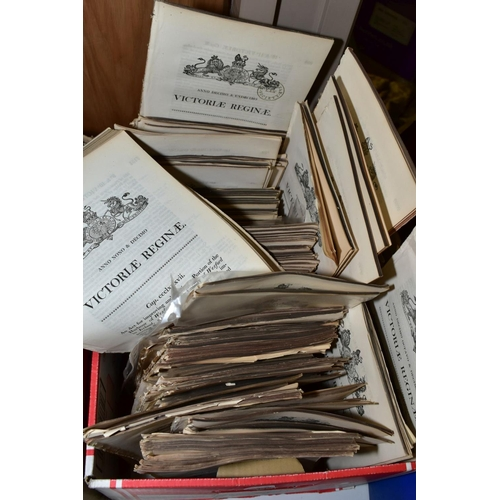 333 - LOCAL ACTS OF PARLIAMENT one box containing a large number of disbound chapters dating from the reig...