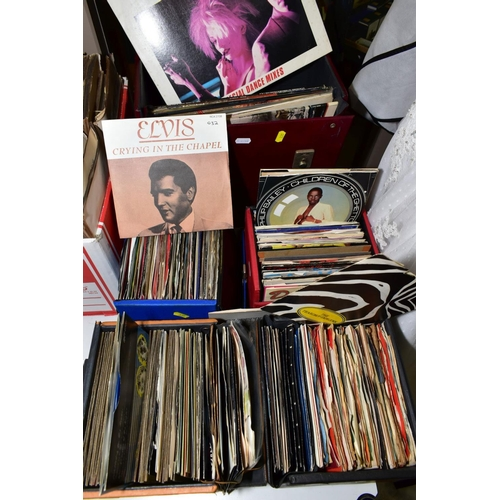 335 - A COLLECTION OF EP'S AND 7'' SINGLES IN FOUR SINGLES BOXES containing over two hundred including Bla...