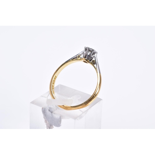 35 - A DIAMOND SINGLE STONE RING, a modern round brilliant cut diamond estimated weight approximately 0.1...