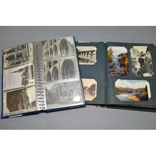 361 - TWO ALBUMS OF POSTCARDS, album one contains approximately 132 views of Churches in the UK and Europe...