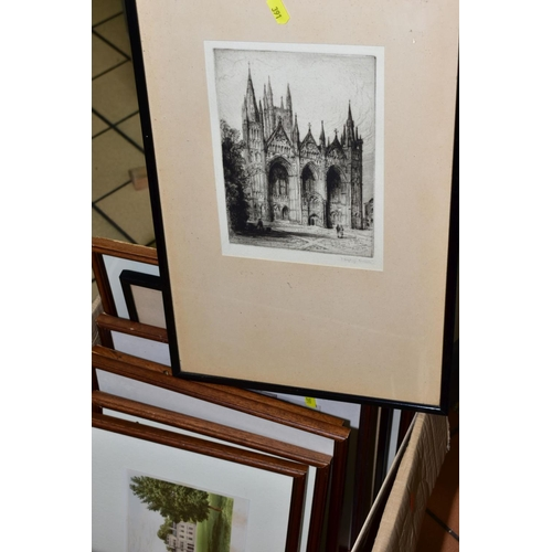 391 - A BOX AND LOOSE TOPOGRAPHICAL PRINTS OF HISTORIC HOUSES AND HALLS, to include 'Blithfield Hall' afte...