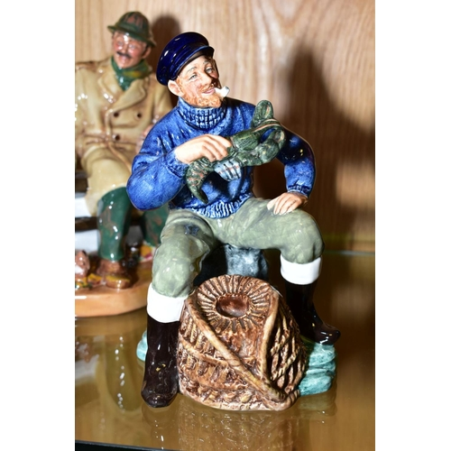 434 - THREE ROYAL DOULTON FIGURES, 'Shore Leave' HN2254, 'Lunchtime' HN2485 and 'The Lobster Man' HN2317 (...