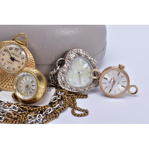 45 - A COLLECTION OF MISCELLANEOUS WATCHES, to include an early to mid-twentieth century 9ct gold Avia la...
